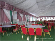 Decorated Backyard / Garden Big Wedding Tents High Strength For 1000 People