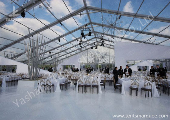 Китай Outdoor Transparent PVC Cover Luxury Wedding Tents Wind Resistant завод